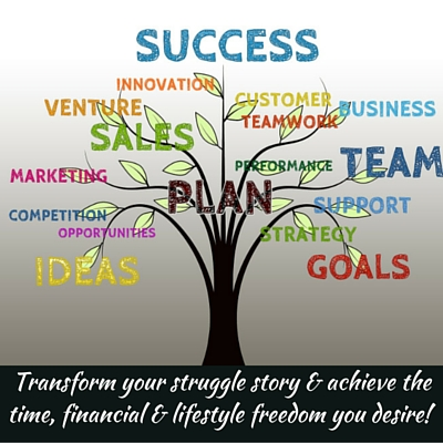 Transform your struggle story & achieve the time, financial & lifestyle freedom you desire!